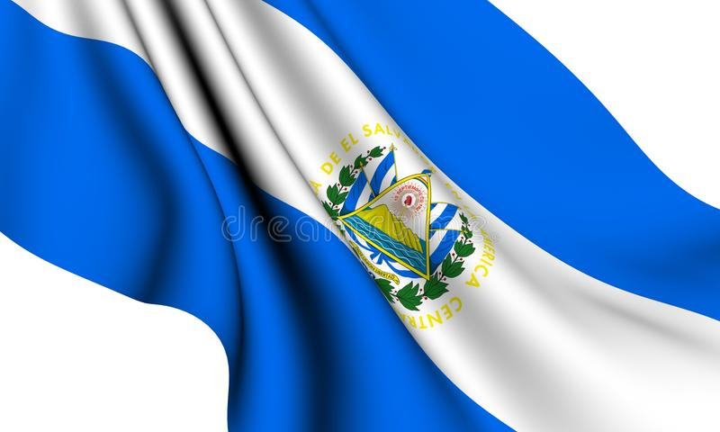 Markierungsfahne von El Salvador stock abbildung
