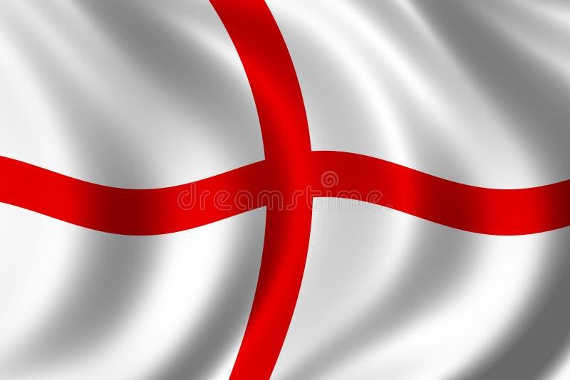 Markierungsfahne von England stock abbildung