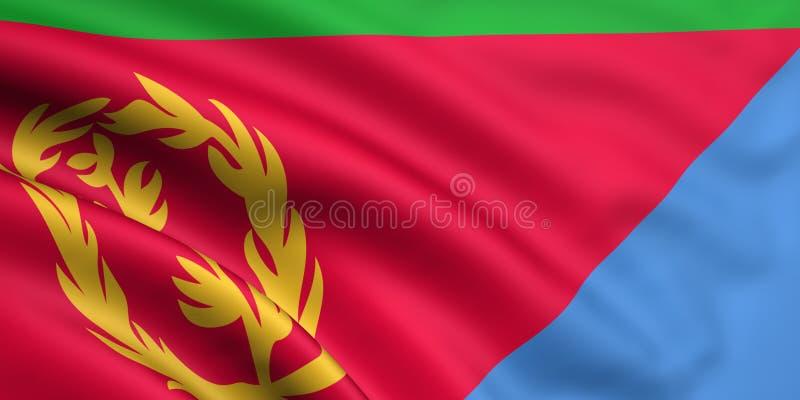 Markierungsfahne von Eritrea lizenzfreie abbildung