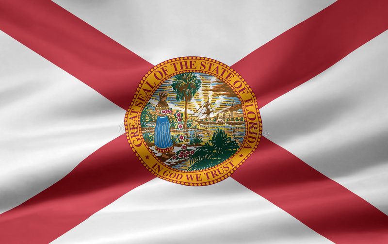 Markierungsfahne von Florida