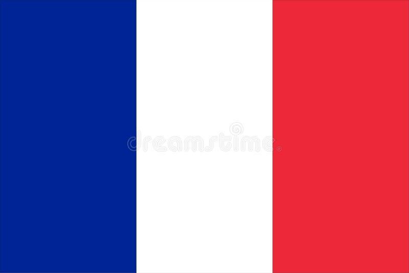 Markierungsfahne von Frankreich lizenzfreie abbildung