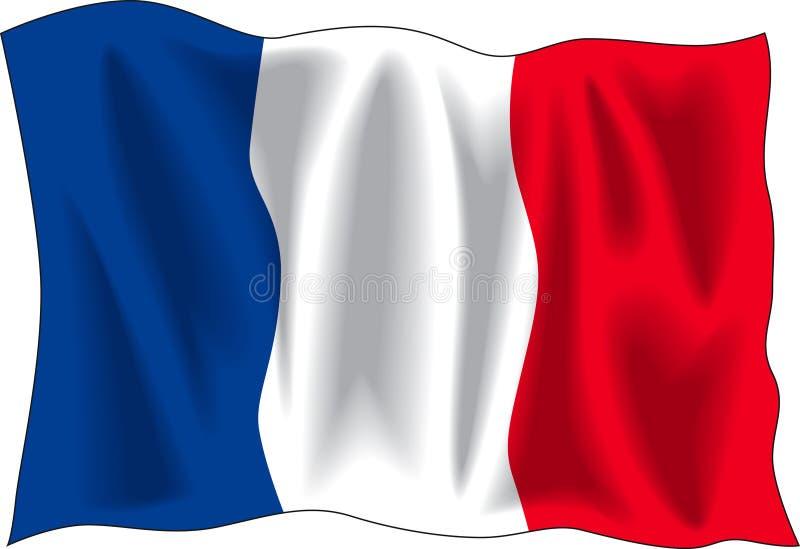 Markierungsfahne von Frankreich vektor abbildung