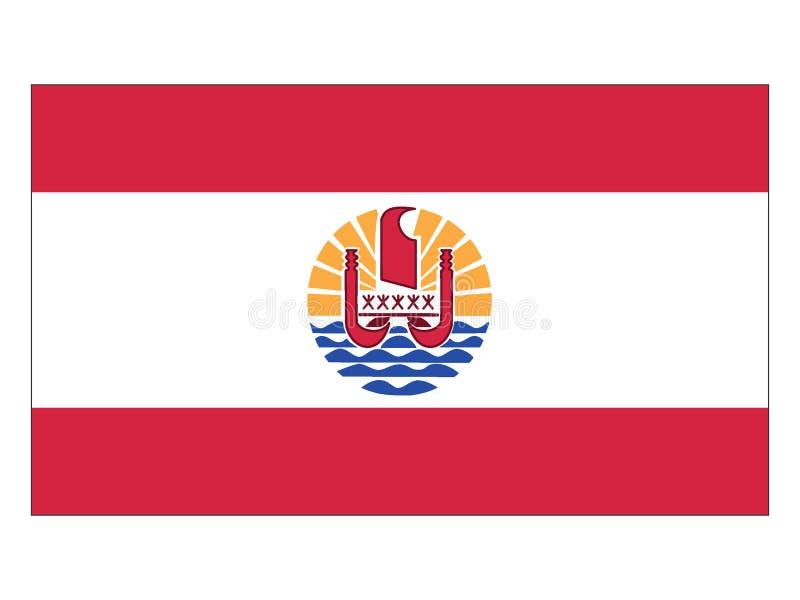 Markierungsfahne von französischer Polinesien stock abbildung