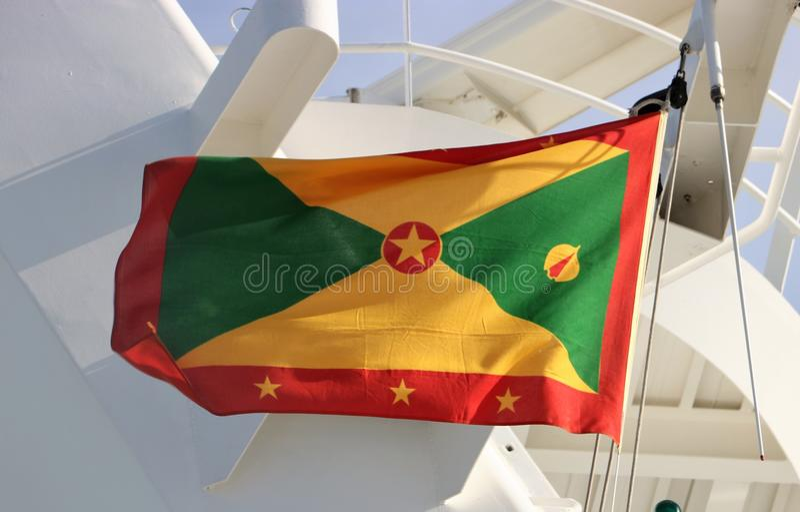 Markierungsfahne von Grenada stockfotografie