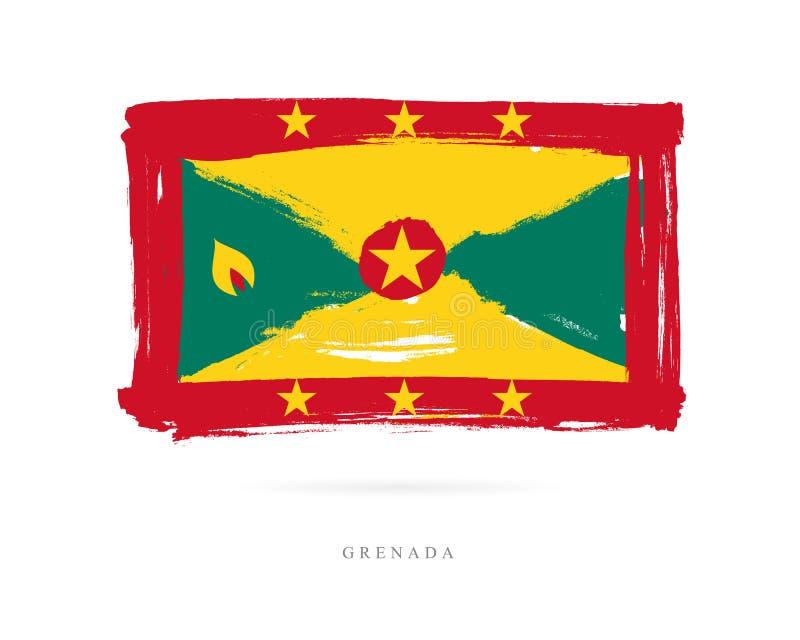 Markierungsfahne von Grenada Abstrakter Begriff stock abbildung