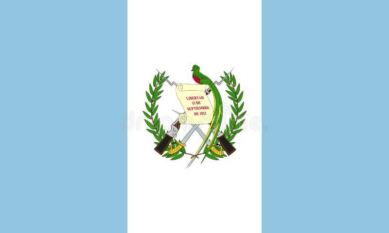 Markierungsfahne von Guatemala stock abbildung