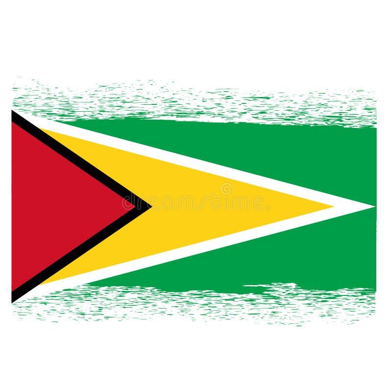 Markierungsfahne von Guyana vektor abbildung