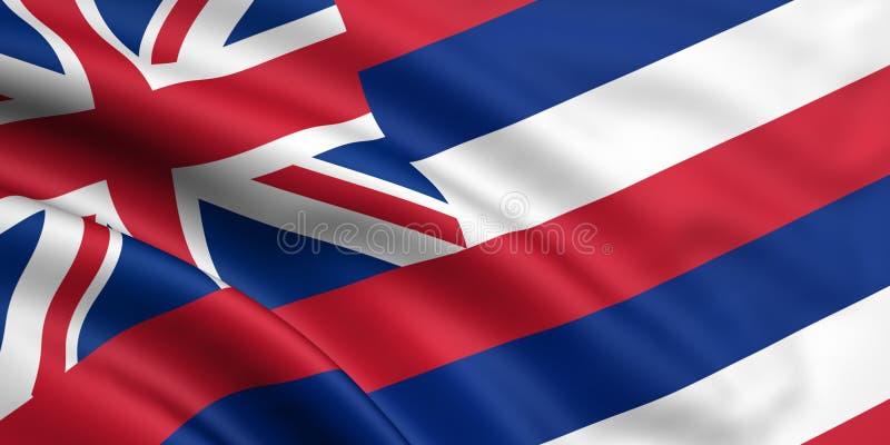 Markierungsfahne von Hawaii lizenzfreie stockfotografie