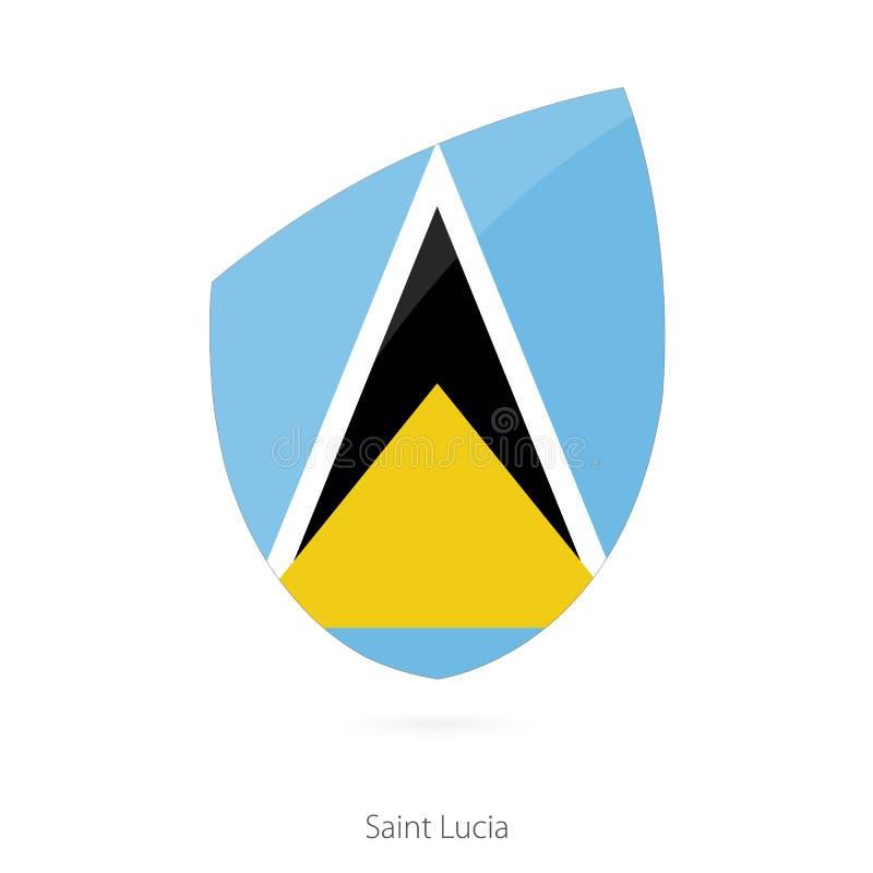 Markierungsfahne von Heiliger Lucia vektor abbildung