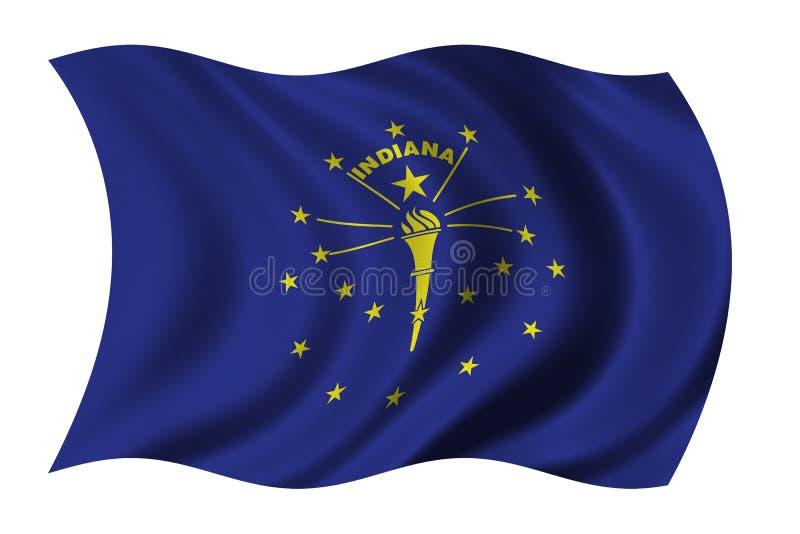 Markierungsfahne von Indiana lizenzfreie abbildung