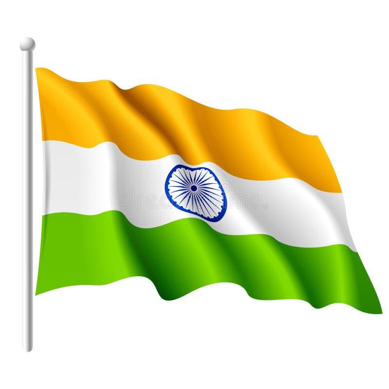 Markierungsfahne von Indien. Vektor.