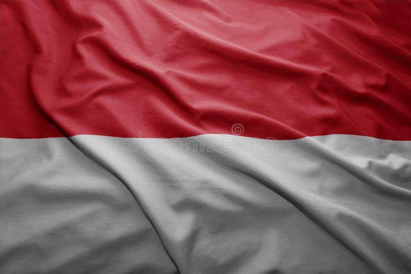 Markierungsfahne von Indonesien lizenzfreie stockfotografie