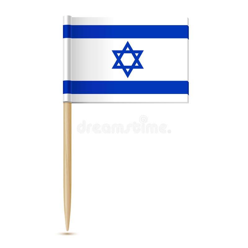 Markierungsfahne von Israel Flaggenzahnstocher stock abbildung