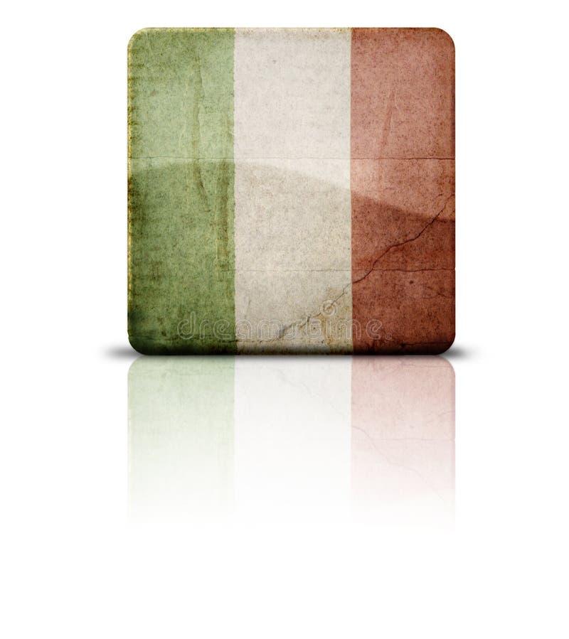 Markierungsfahne von Italien lizenzfreie stockbilder