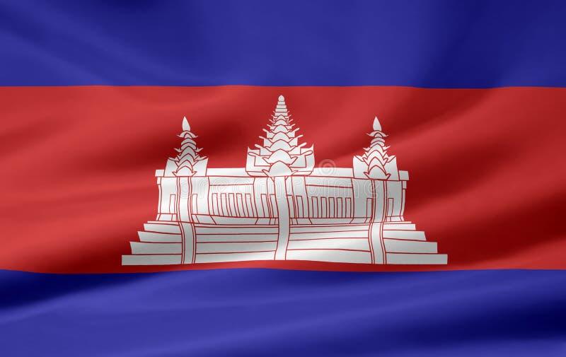 Markierungsfahne von Kambodscha stock abbildung