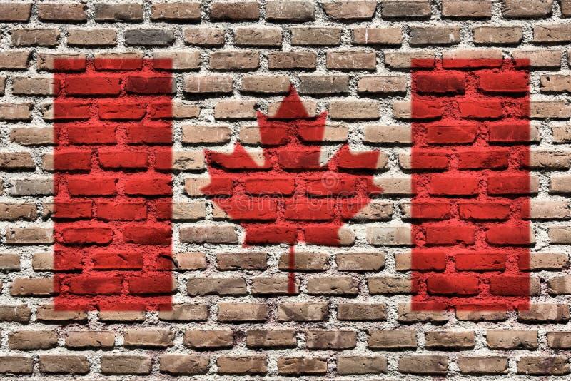 Markierungsfahne von Kanada lizenzfreie stockfotografie