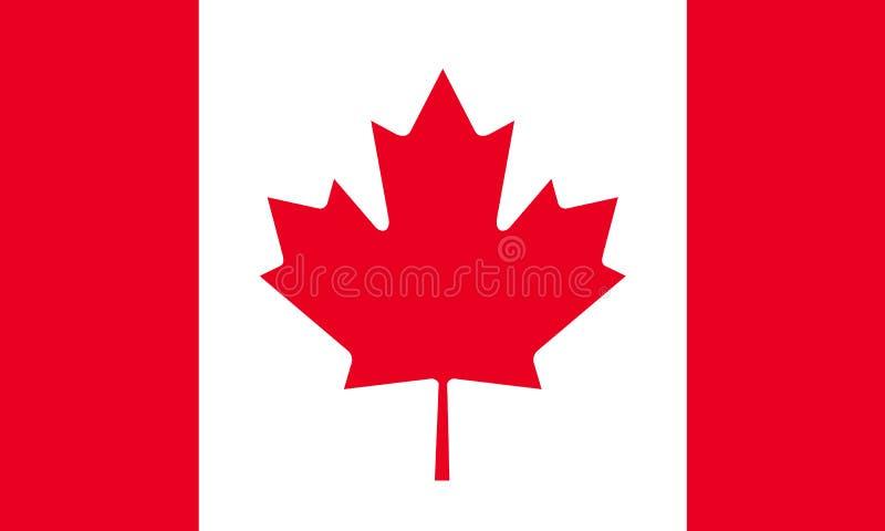 Markierungsfahne von Kanada lizenzfreie abbildung