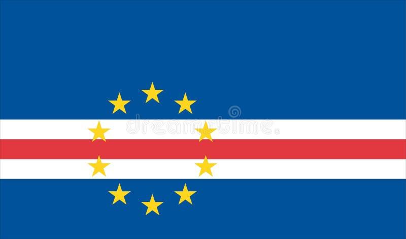 Markierungsfahne von Kap-Verde stock abbildung