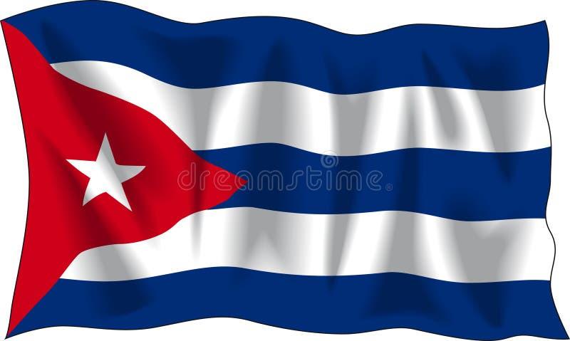 Markierungsfahne von Kuba stock abbildung