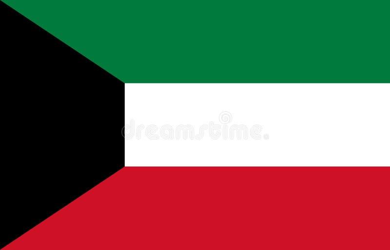 Markierungsfahne von Kuwait lizenzfreie stockfotos