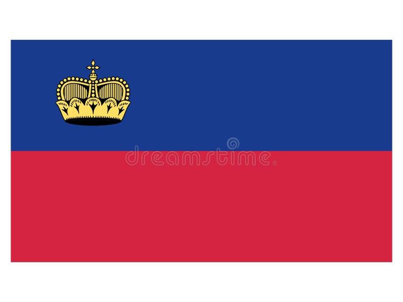 Markierungsfahne von Liechtenstein lizenzfreie abbildung