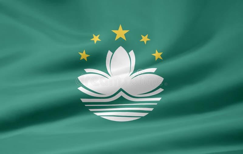 Markierungsfahne von Macau stock abbildung