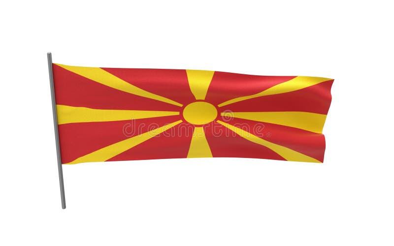 Markierungsfahne von Makedonien lizenzfreie abbildung