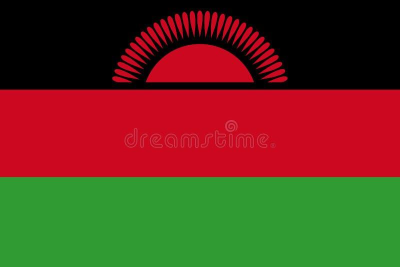 Markierungsfahne von Malawi lizenzfreie abbildung