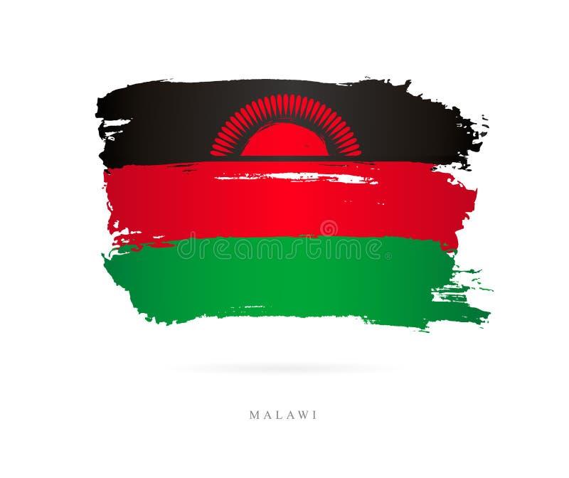 Markierungsfahne von Malawi Abstrakter Begriff lizenzfreie abbildung