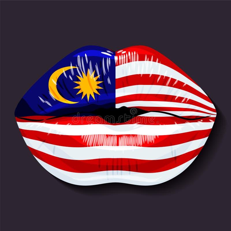 Markierungsfahne von Malaysia lizenzfreie abbildung