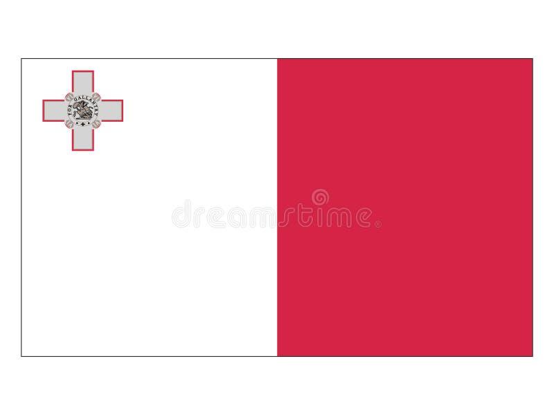Markierungsfahne von Malta vektor abbildung