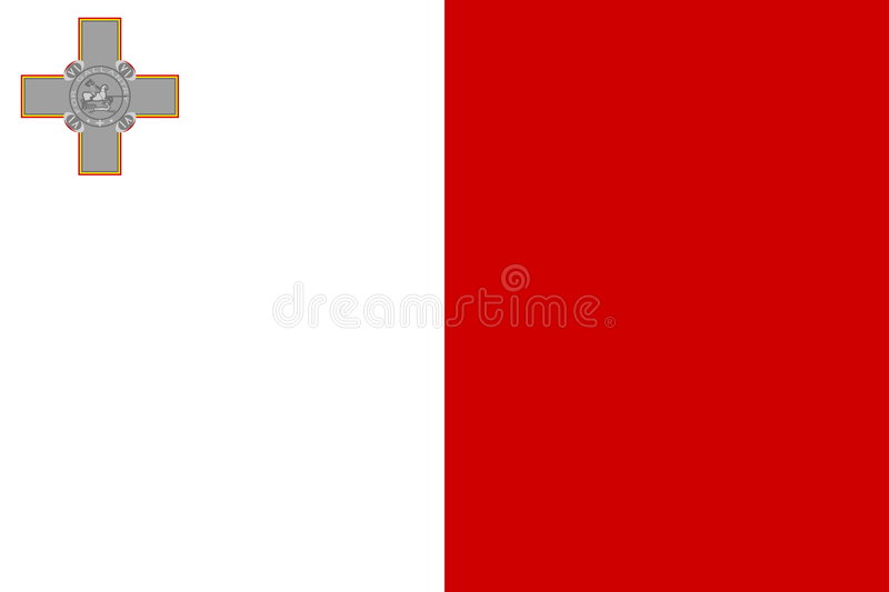 Markierungsfahne von Malta stock abbildung