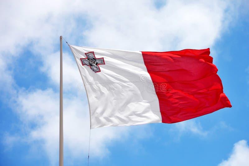 Markierungsfahne von Malta stockfotos