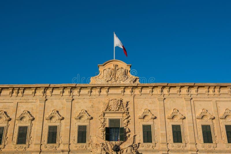 Markierungsfahne von Malta Valletta, Malta lizenzfreies stockbild