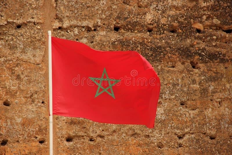 Markierungsfahne von Marokko lizenzfreie stockbilder