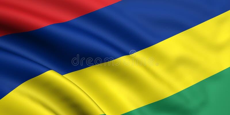 Markierungsfahne von Mauritius lizenzfreie stockbilder