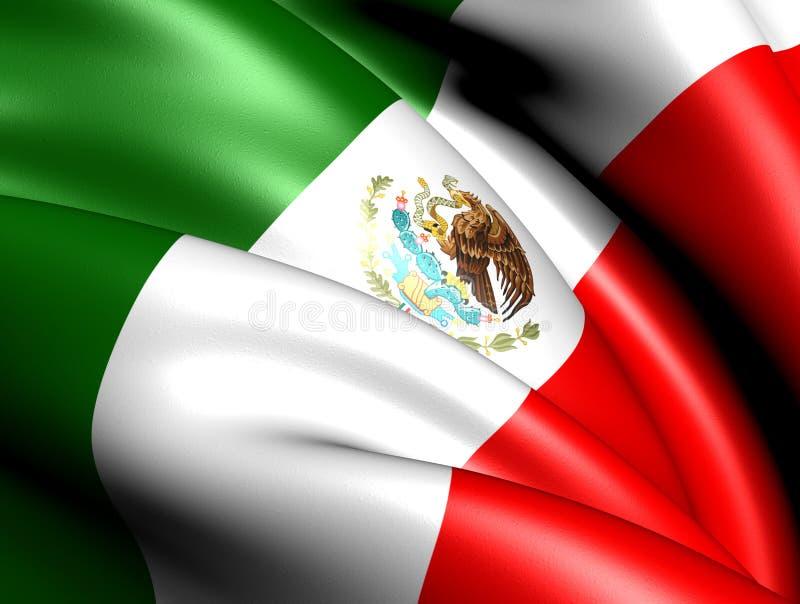 Markierungsfahne von Mexiko stock abbildung