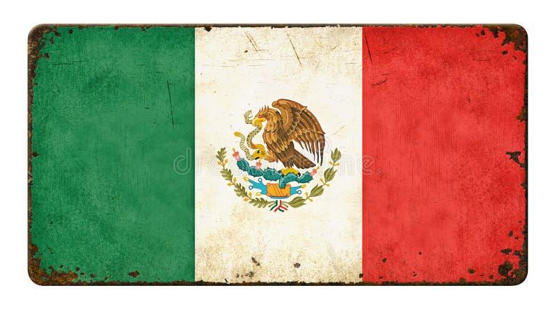 Markierungsfahne von Mexiko lizenzfreie stockfotos