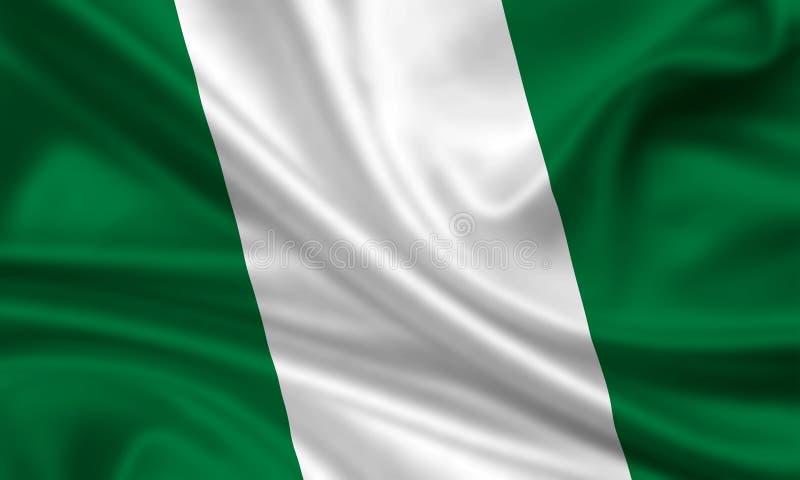 Markierungsfahne von Nigeria stockfotos