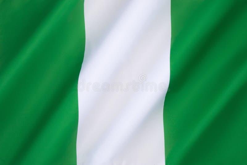 Markierungsfahne von Nigeria lizenzfreie stockfotos