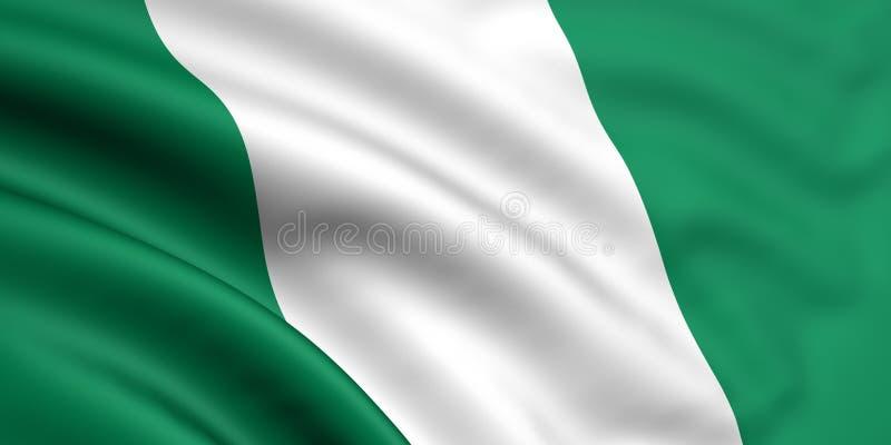 Markierungsfahne von Nigeria lizenzfreie abbildung