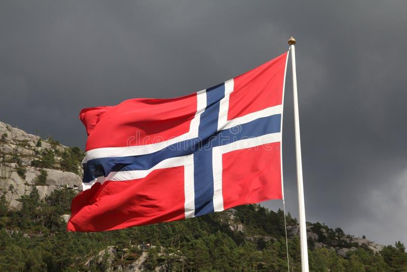 Markierungsfahne von Norwegen lizenzfreie stockfotografie