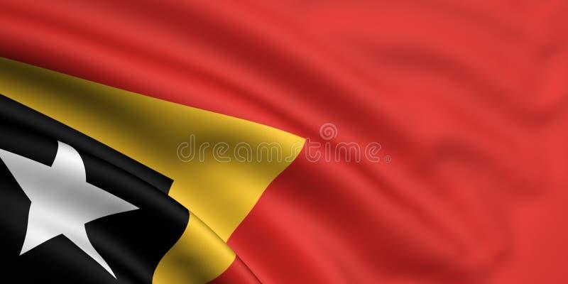 Markierungsfahne von Osttimor lizenzfreie abbildung