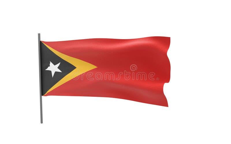 Markierungsfahne von Osttimor stock abbildung