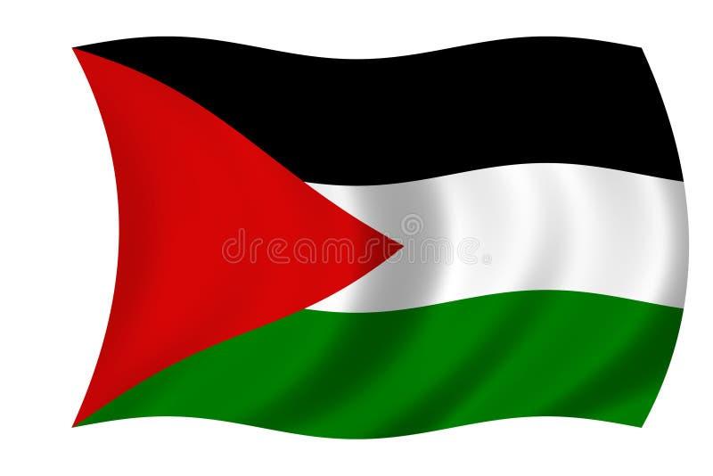 Markierungsfahne von Palästina vektor abbildung