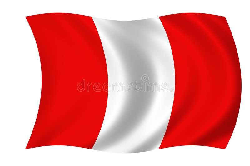 Markierungsfahne Von Peru Lizenzfreies Stockfoto