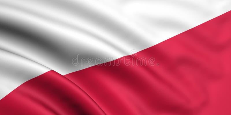 Markierungsfahne von Polen stock abbildung