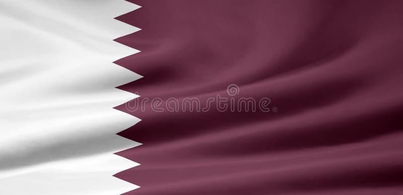 Markierungsfahne von Qatar stock abbildung