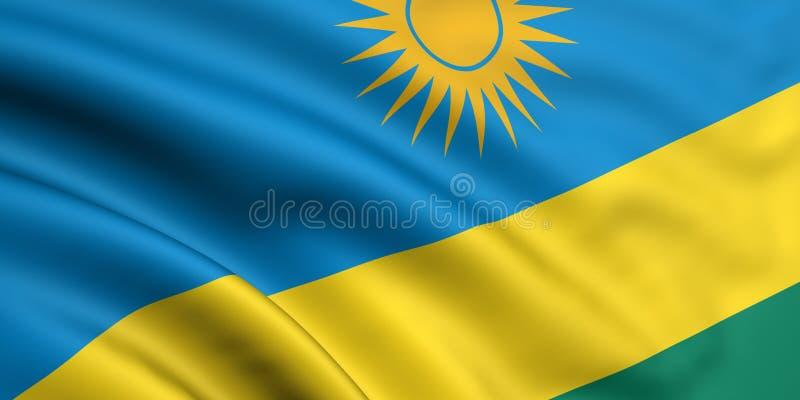 Markierungsfahne von Ruanda stockfotos