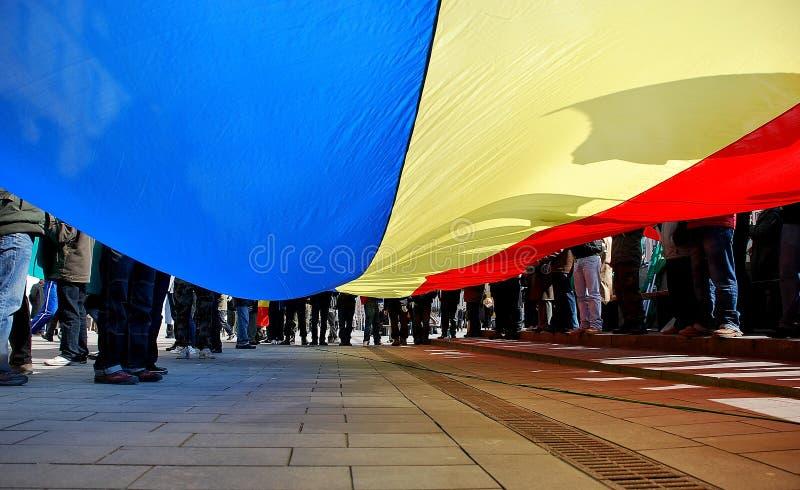 Markierungsfahne von Rumänien lizenzfreies stockbild